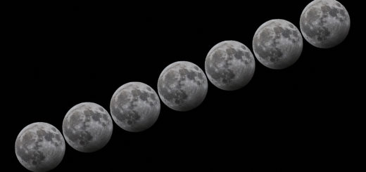 The core of the lunar eclipse: a short sequence centered on the time of the maximum