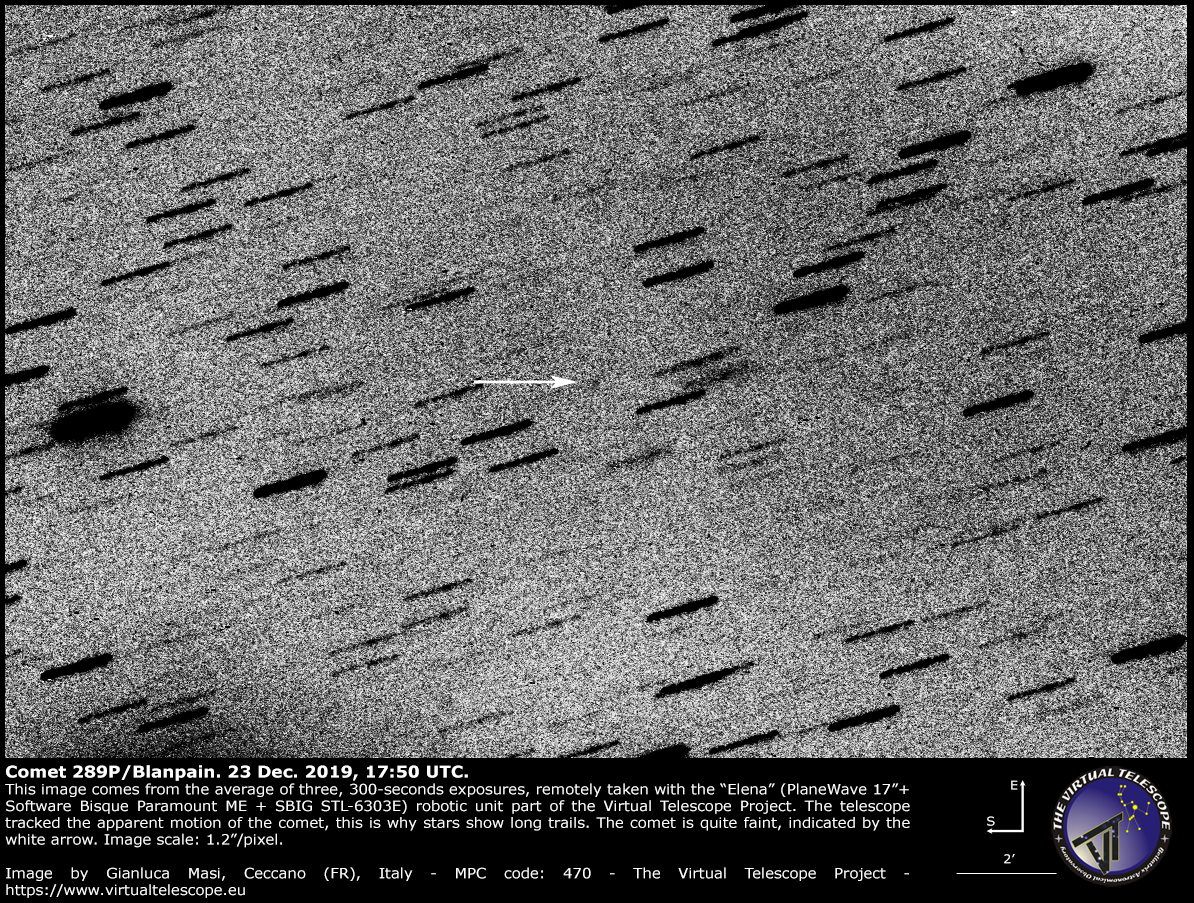 Comet 289P/Blanpain: 23 Dec. 2019
