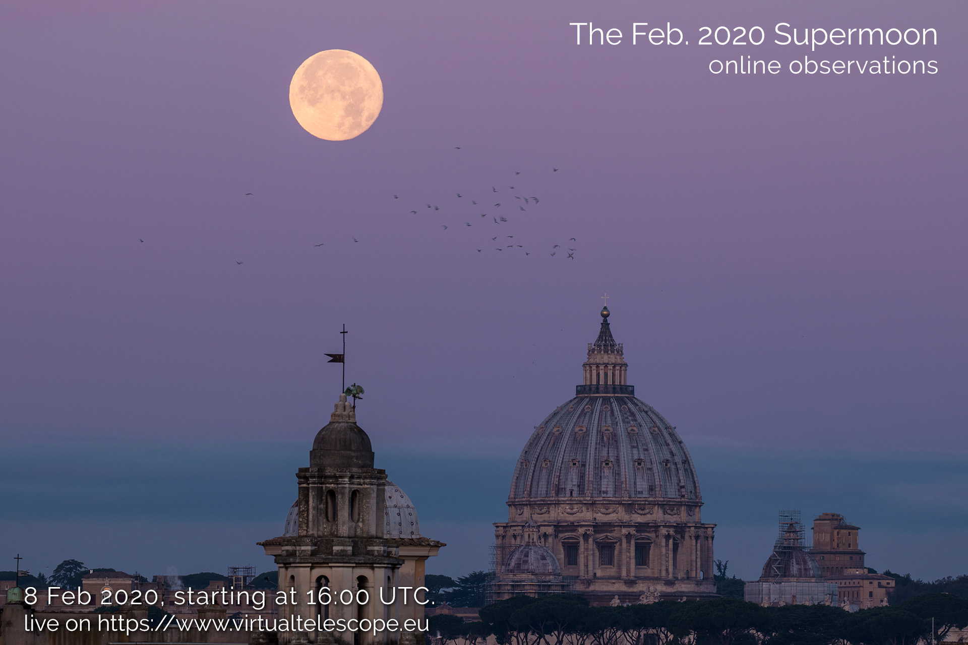 Feb. 2020 Supermoon: poster of the event