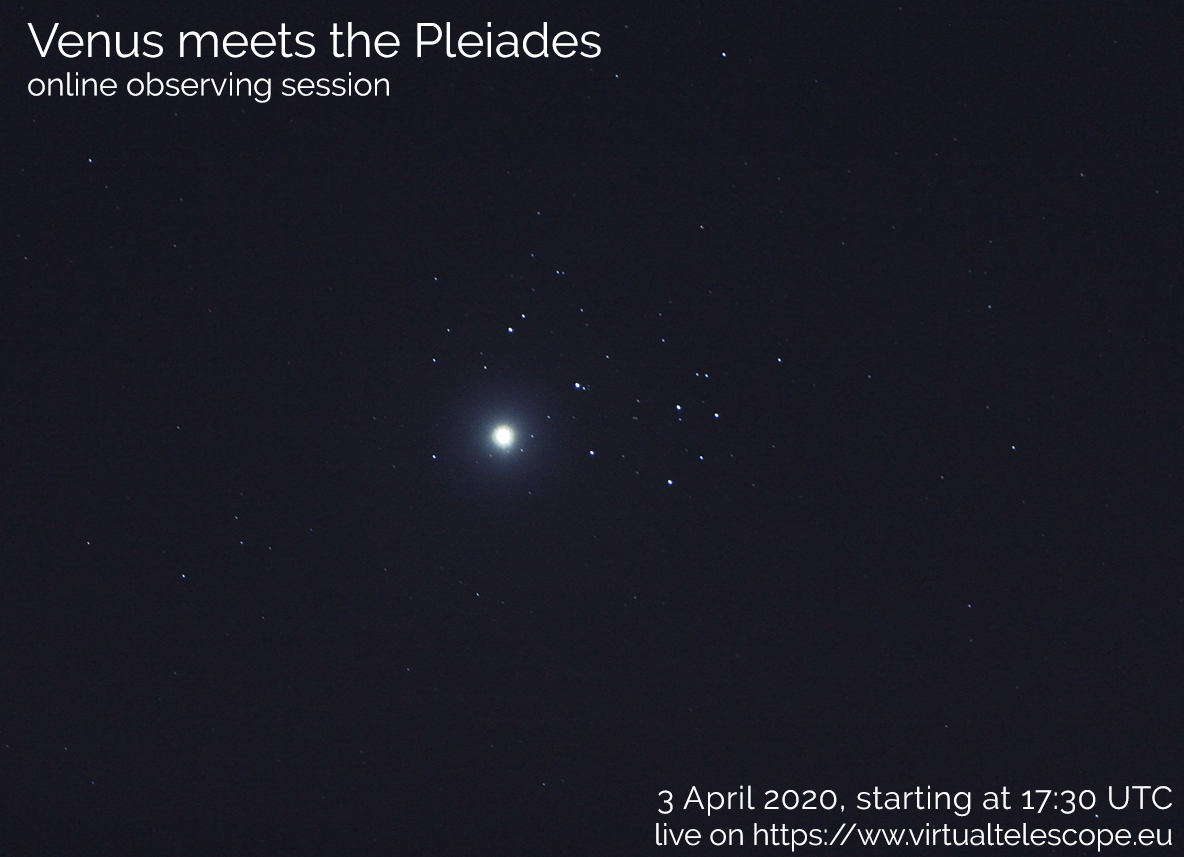 """""""Venus Meets the Pleiades"""": poster of the event"""