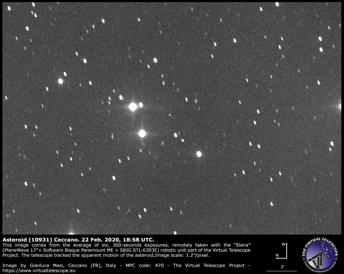 Asteroid (10931) Ceccano: 22 Feb. 2020