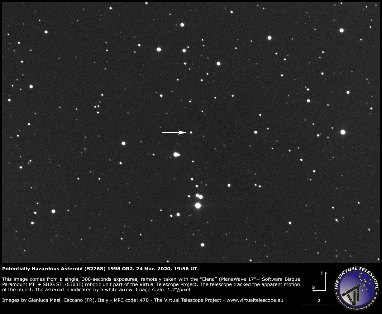 Potentially Hazardous Asteroid (52768) 1998 OR2: a image - 24 Mar. 2020