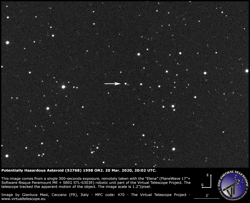 Potentially Hazardous Asteroid (52768) 1998 OR2: a image - 20 Mar. 2020