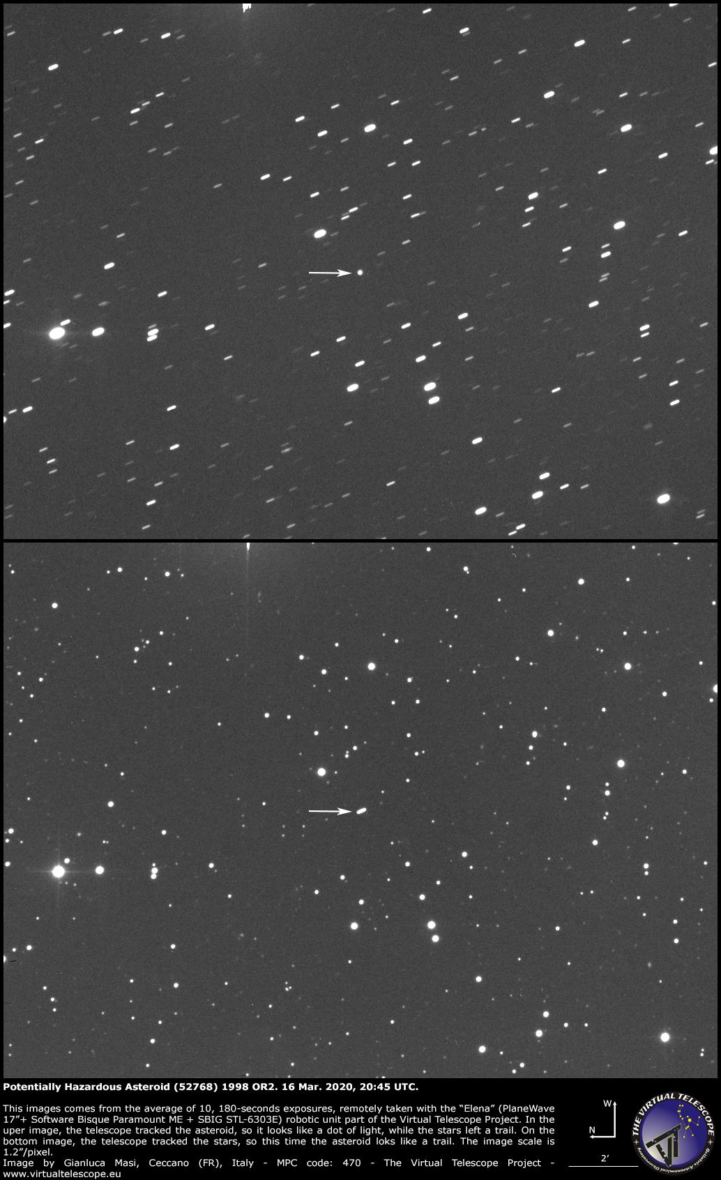 Potentially Hazardous Asteroid (52768) 1998 OR2: a image - 16 Mar. 2020