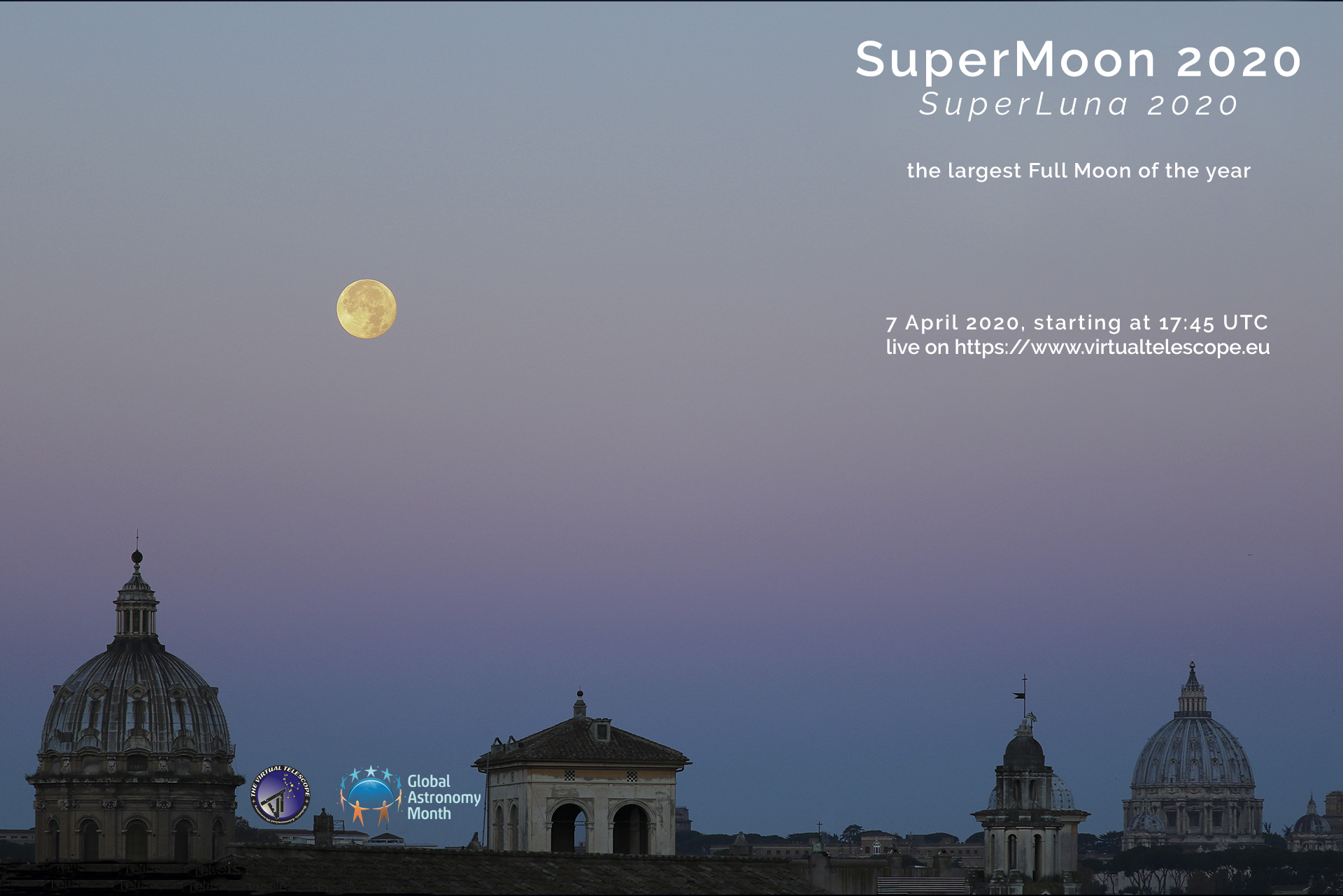 """SuperMoon 2020"": poster of the event"