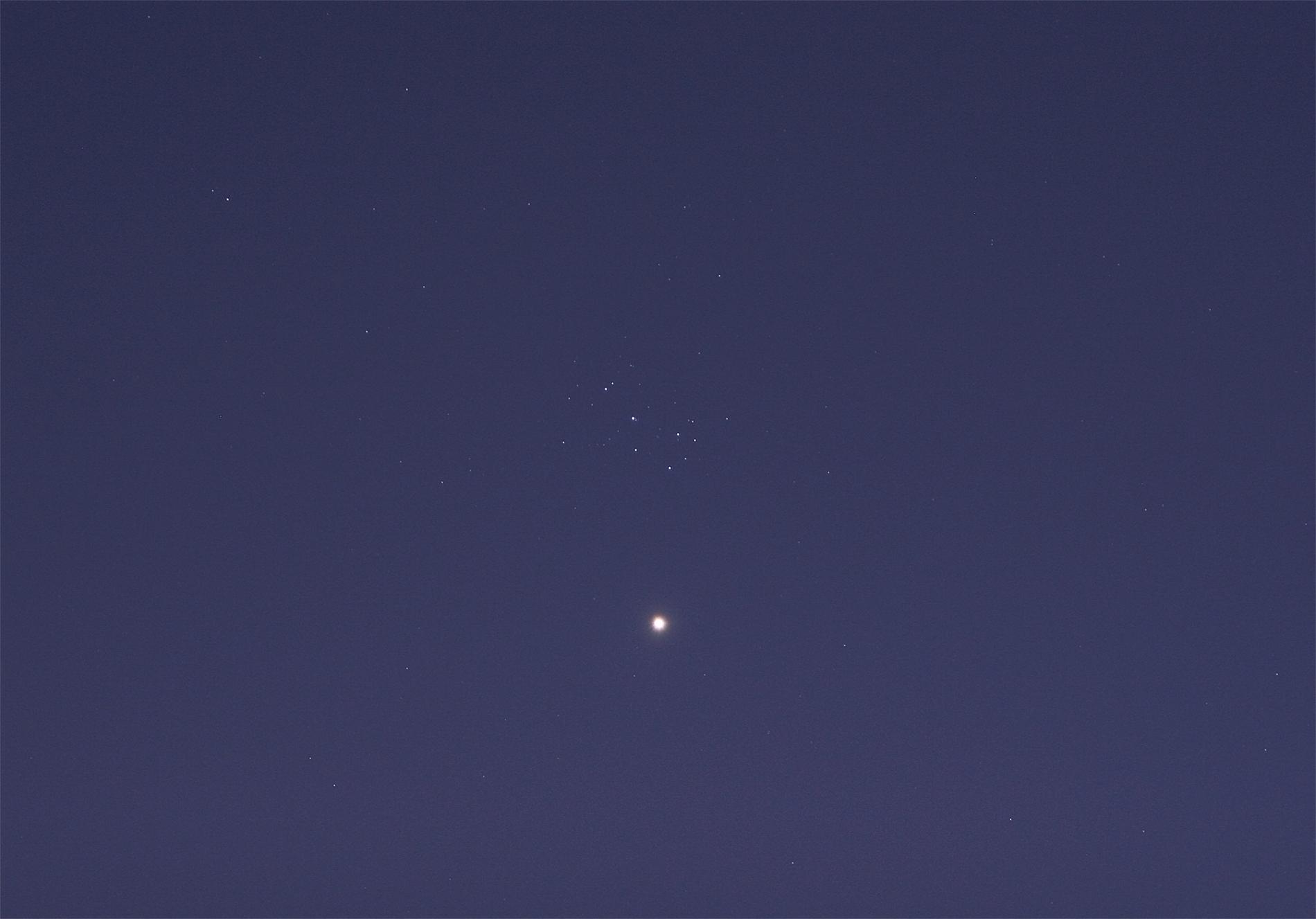 Venere e le Pleiadi. 1 Apr. 2012. © Gianluca Masi