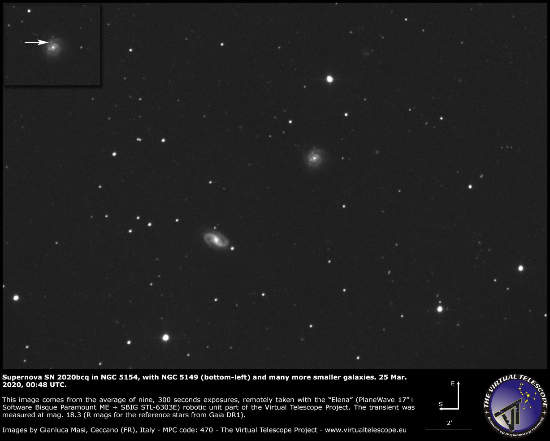 Supernova SN 2020bcq in NGC 5154. 25 Mar. 2020