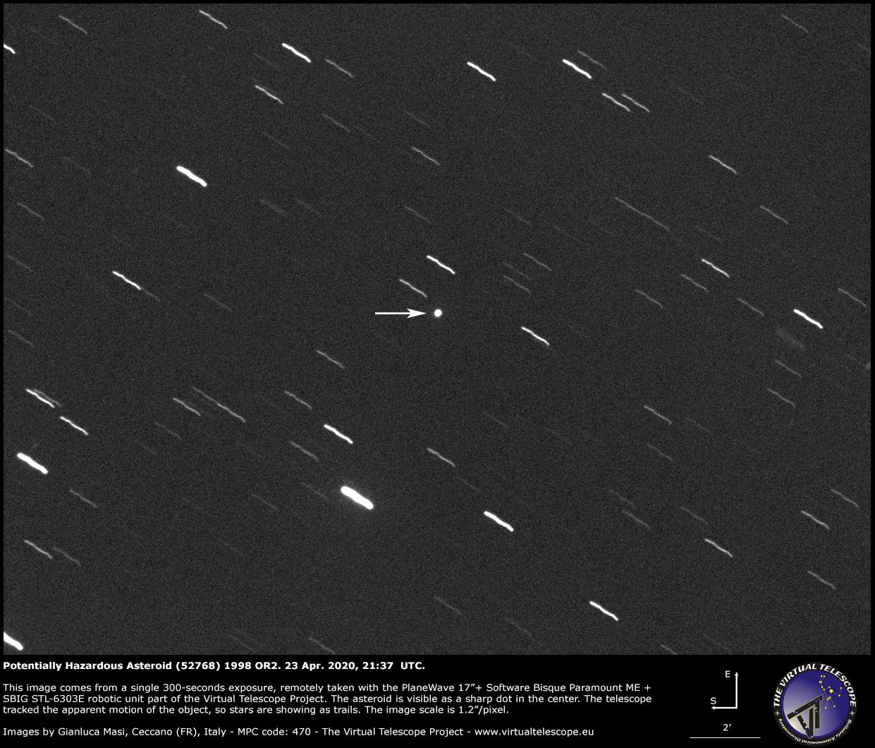 Potentially Hazardous Asteroid (52768) 1998 OR2: a image - 23 Apr. 2020
