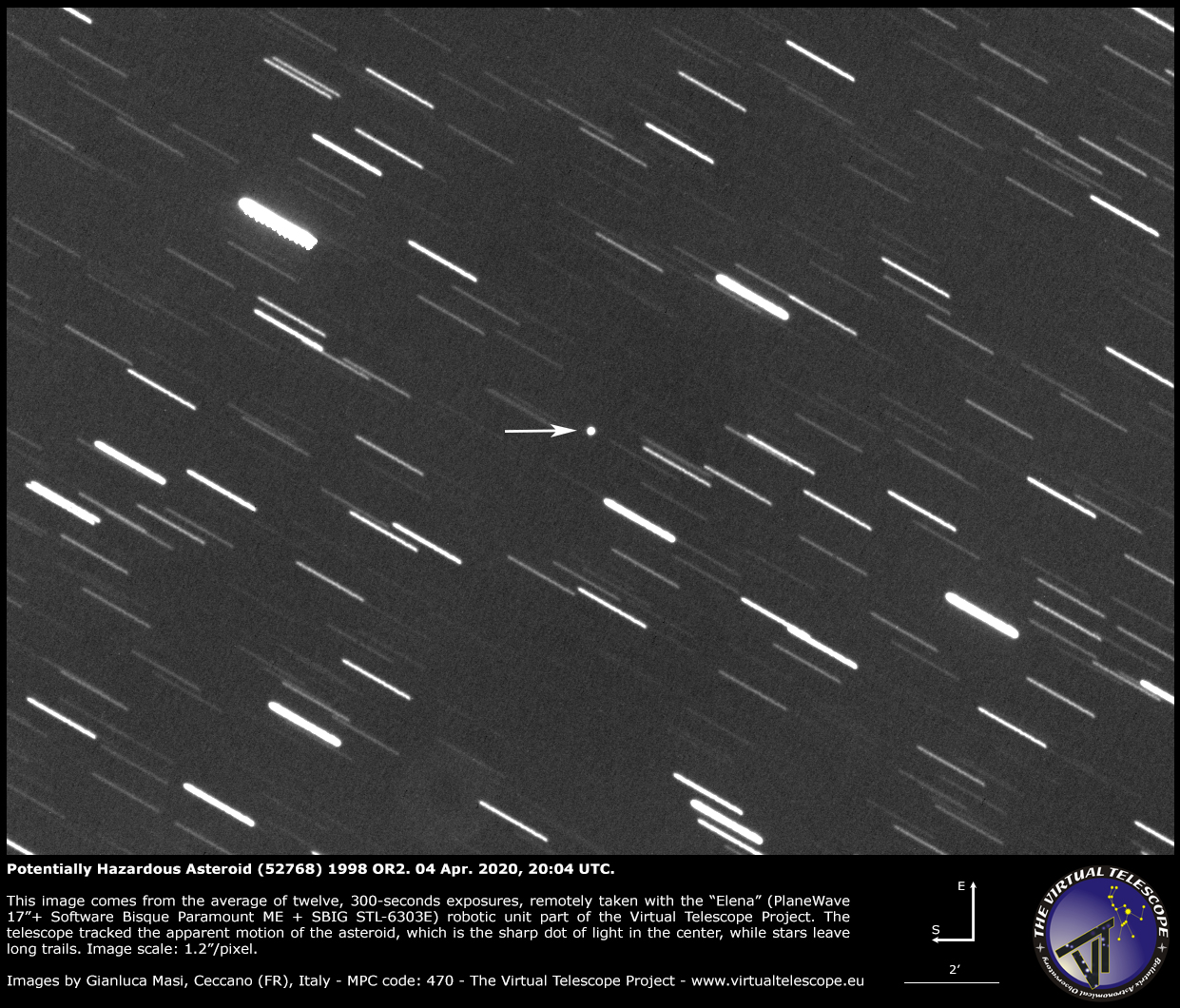 Potentially Hazardous Asteroid (52768) 1998 OR2: a image - 04 Apr. 2020