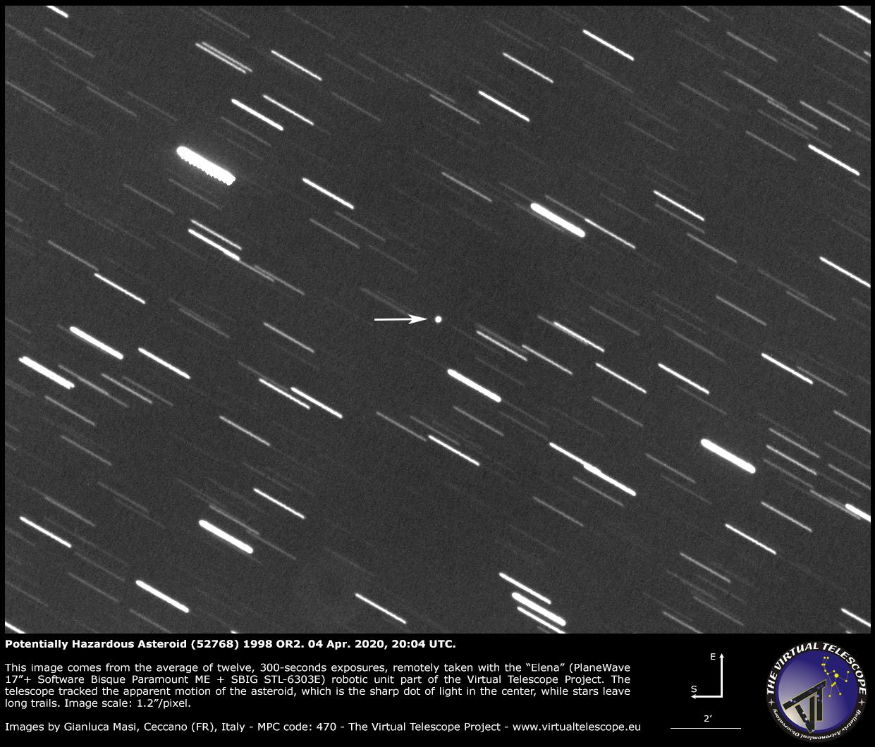 Potentially Hazardous Asteroid (52768) 1998 OR2: a image - 04 Apr. 2020