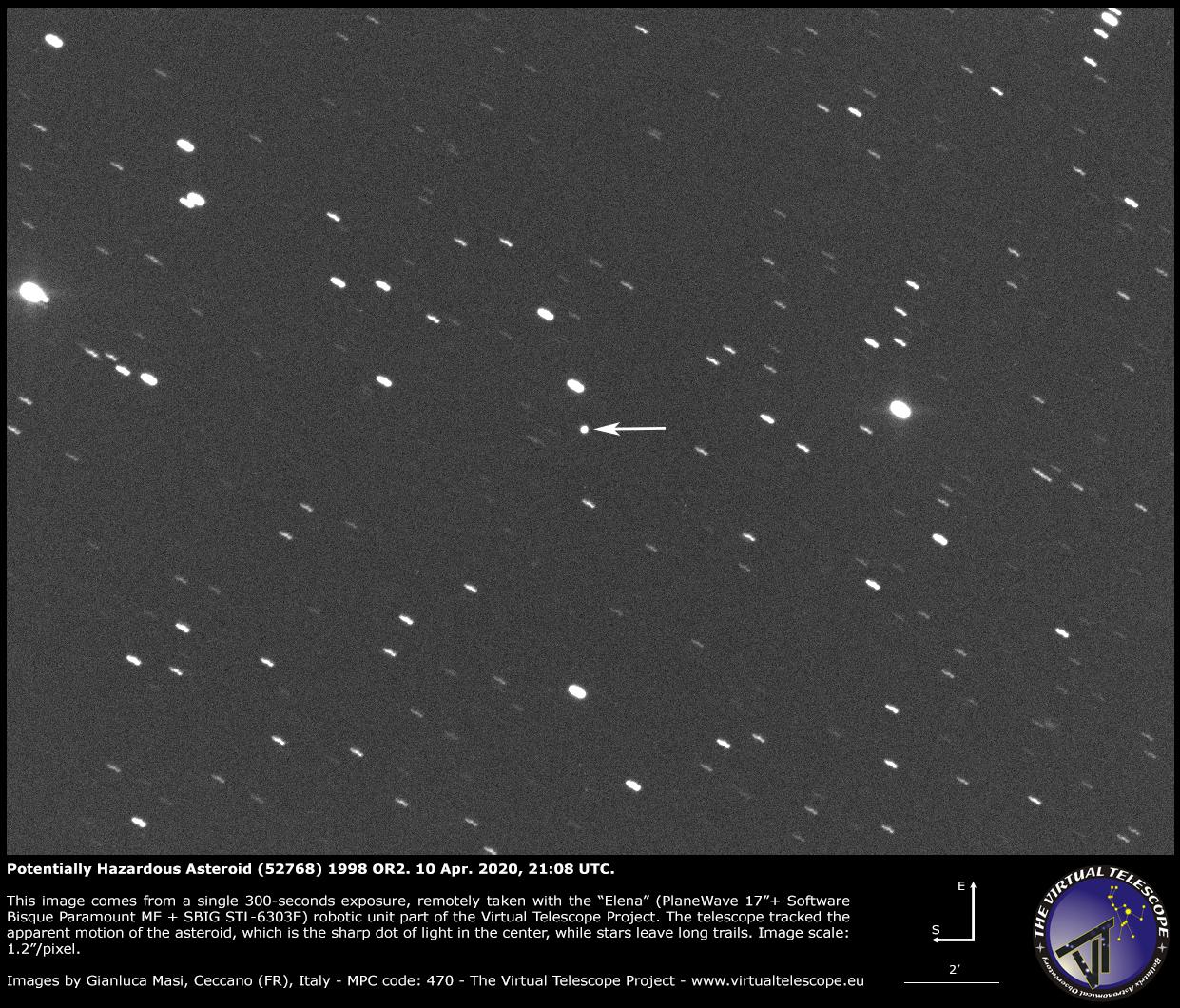 Potentially Hazardous Asteroid (52768) 1998 OR2: a image - 10 Apr. 2020