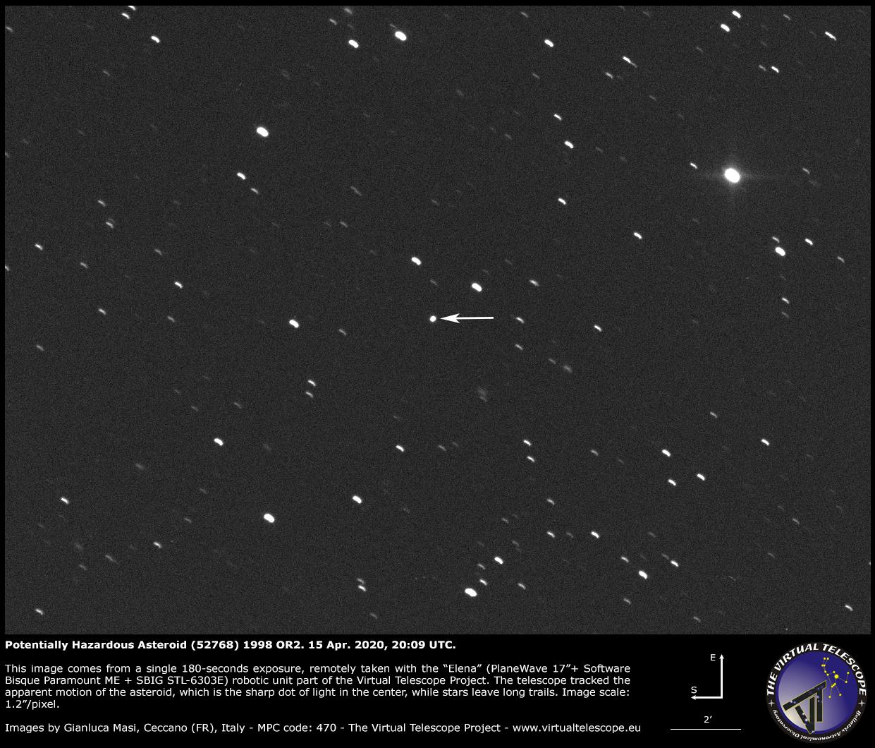 Potentially Hazardous Asteroid (52768) 1998 OR2: a image - 15 Apr. 2020
