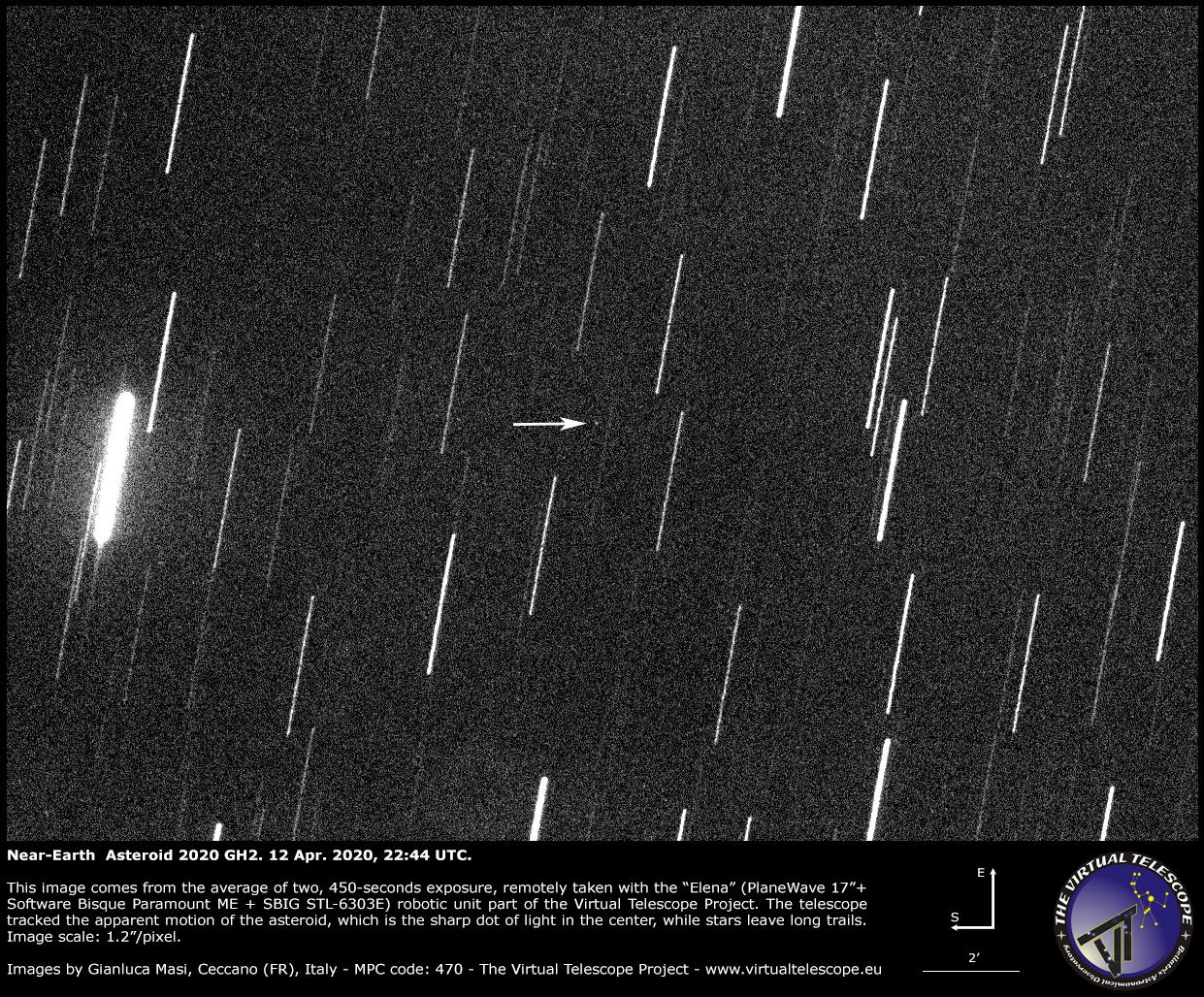 Near-Earth Asteroid 2020 GH2. 12 Apr. 2020, 22:44 UTC.