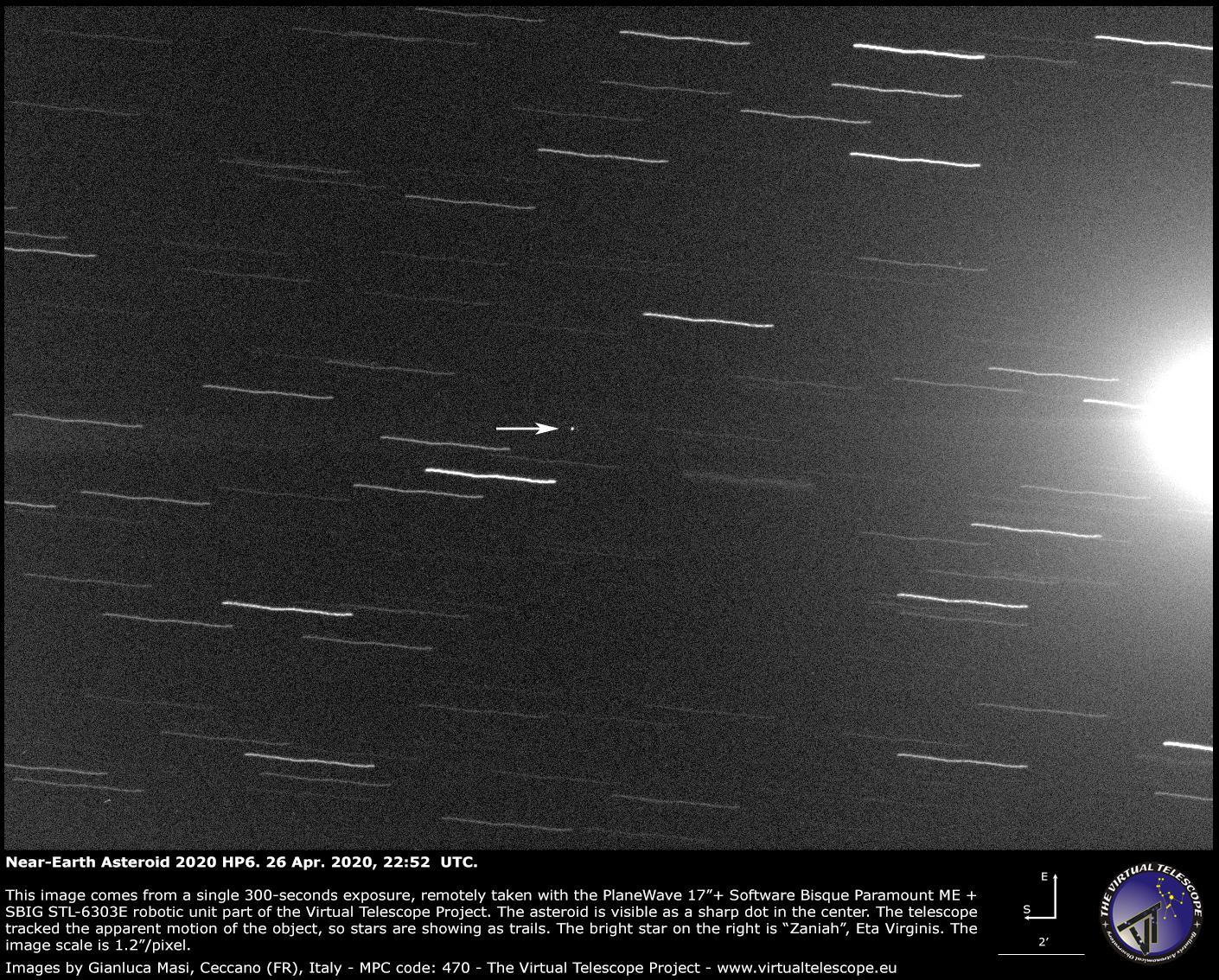 Near-Earth Asteroid 2020 HP6 - 26 Apr. 2020.