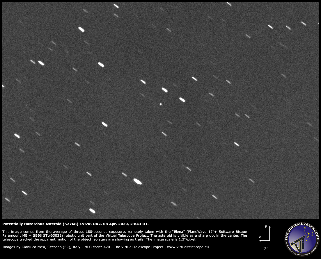 Potentially Hazardous Asteroid (52768) 1998 OR2: a image - 08 Apr. 2020