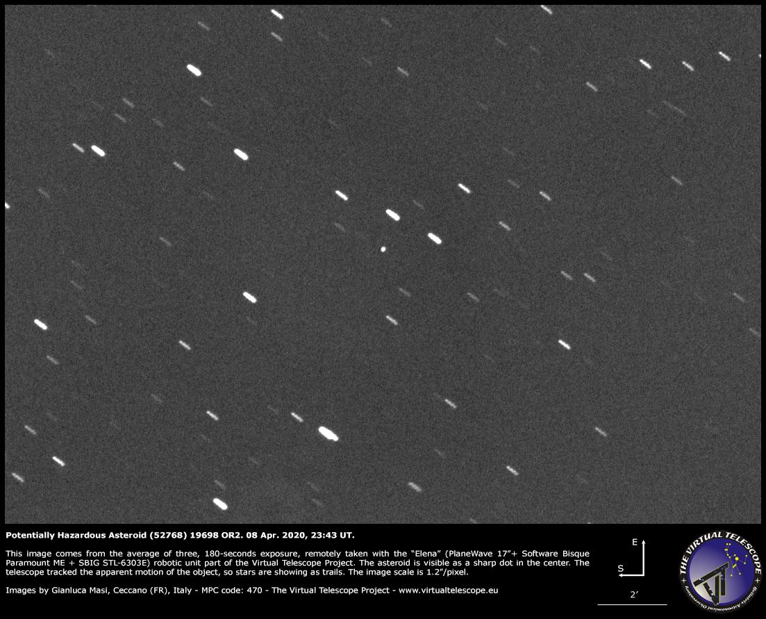 Potentially Hazardous Asteroid (52768) 1998 OR2: a image - 08 Apr. 2020