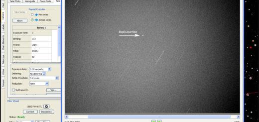 BepiColombo spacecraft. 10 Apr. 2020, 03:38:07 UTC