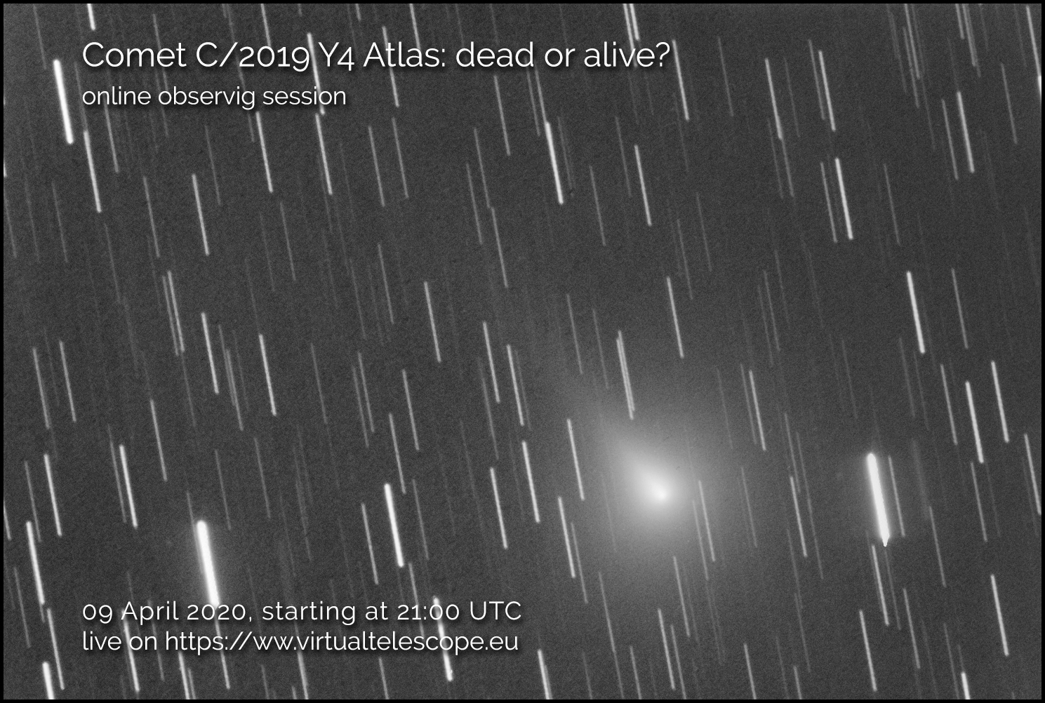 Comet C/2019 Y4 Atlas: dead or alive? - poster of the event
