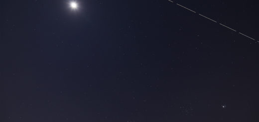 The Moon, the International Space Station and the conjunction between Venus and the Pleiades - 3 Apr. 2020