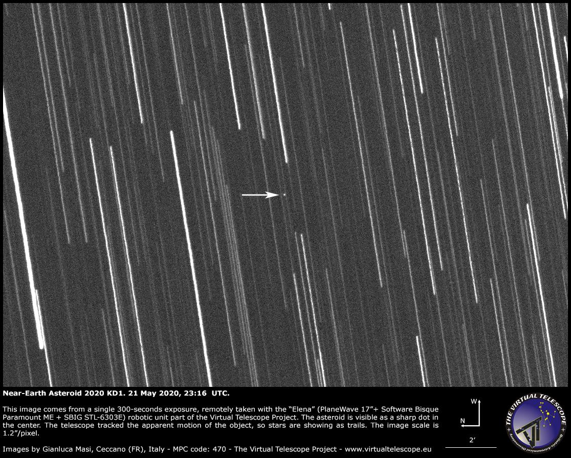 Near-Earth Asteroid 2020 KD1 - 21 May 2020.