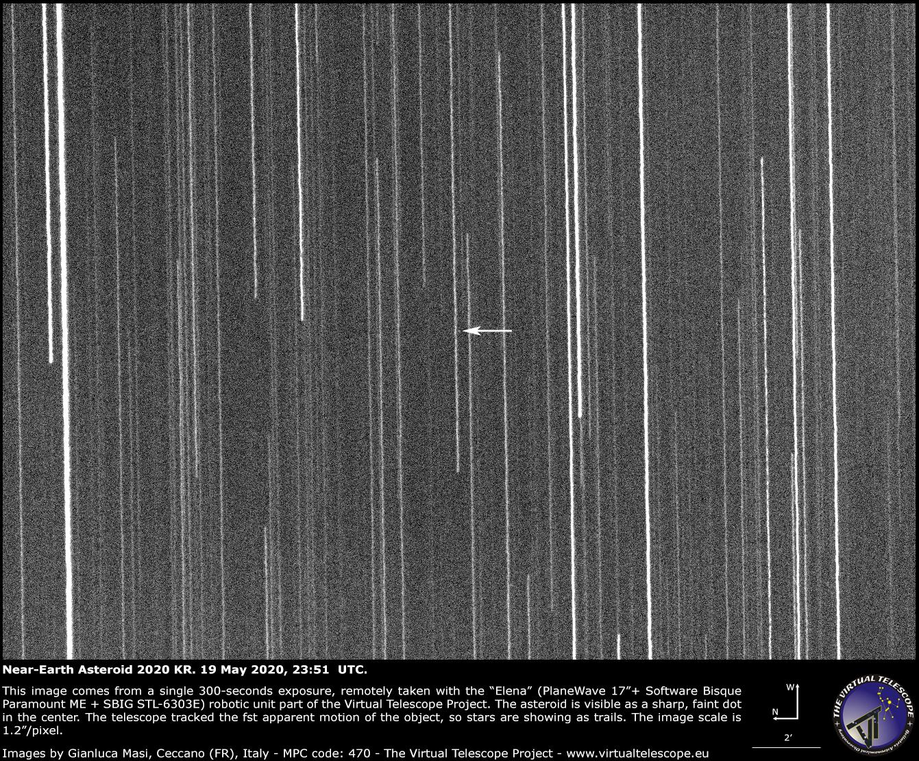 Near-Earth Asteroid 2020 KR - 19 May 2020.