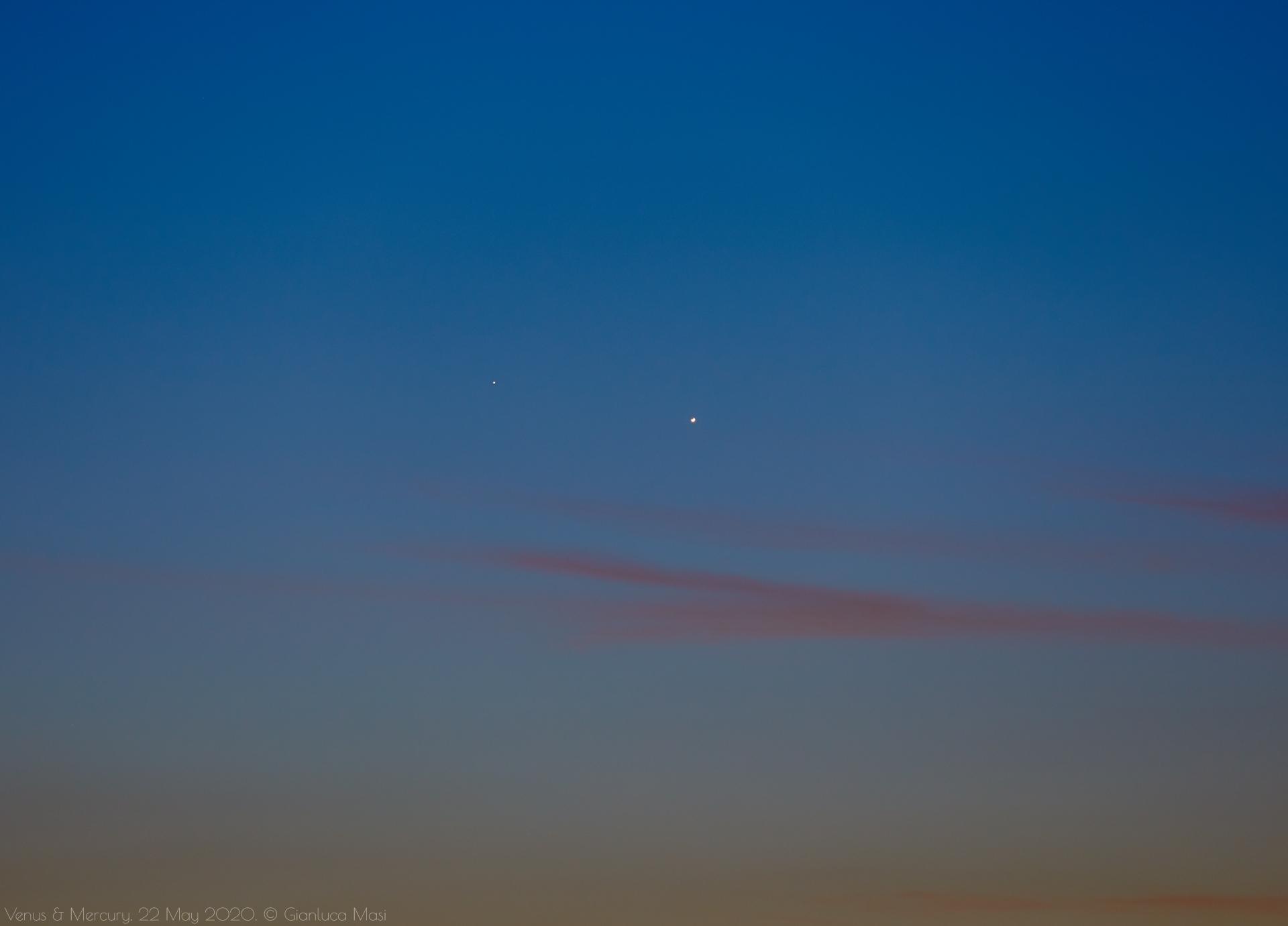 Venus and Mercury - 22 May 2020.