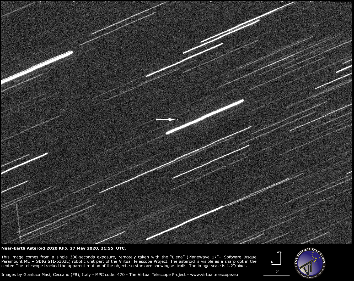 Near-Earth Asteroid 2020 KF5 - 27 May 2020.