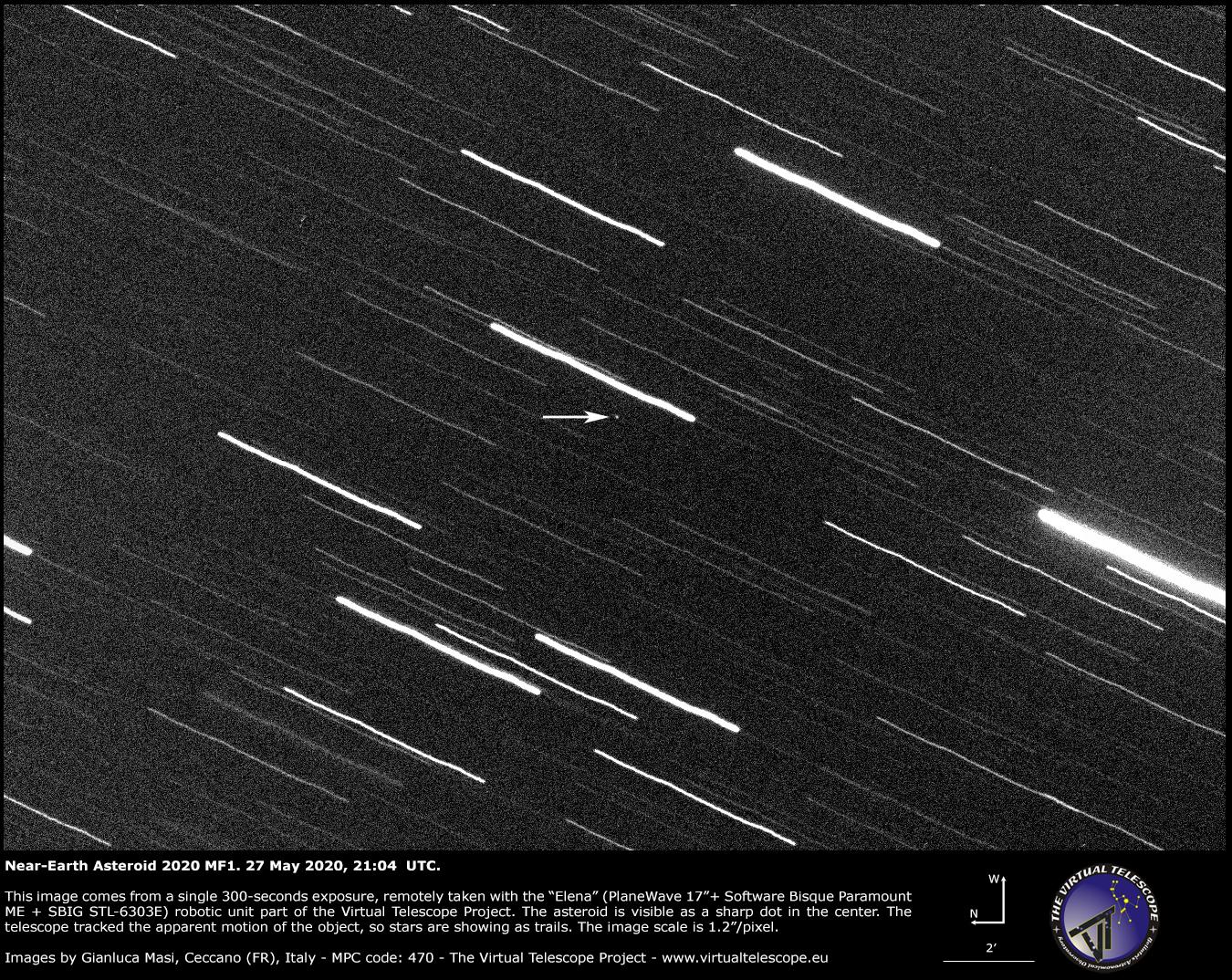 Near-Earth Asteroid 2020 MF1 - 26 June 2020.