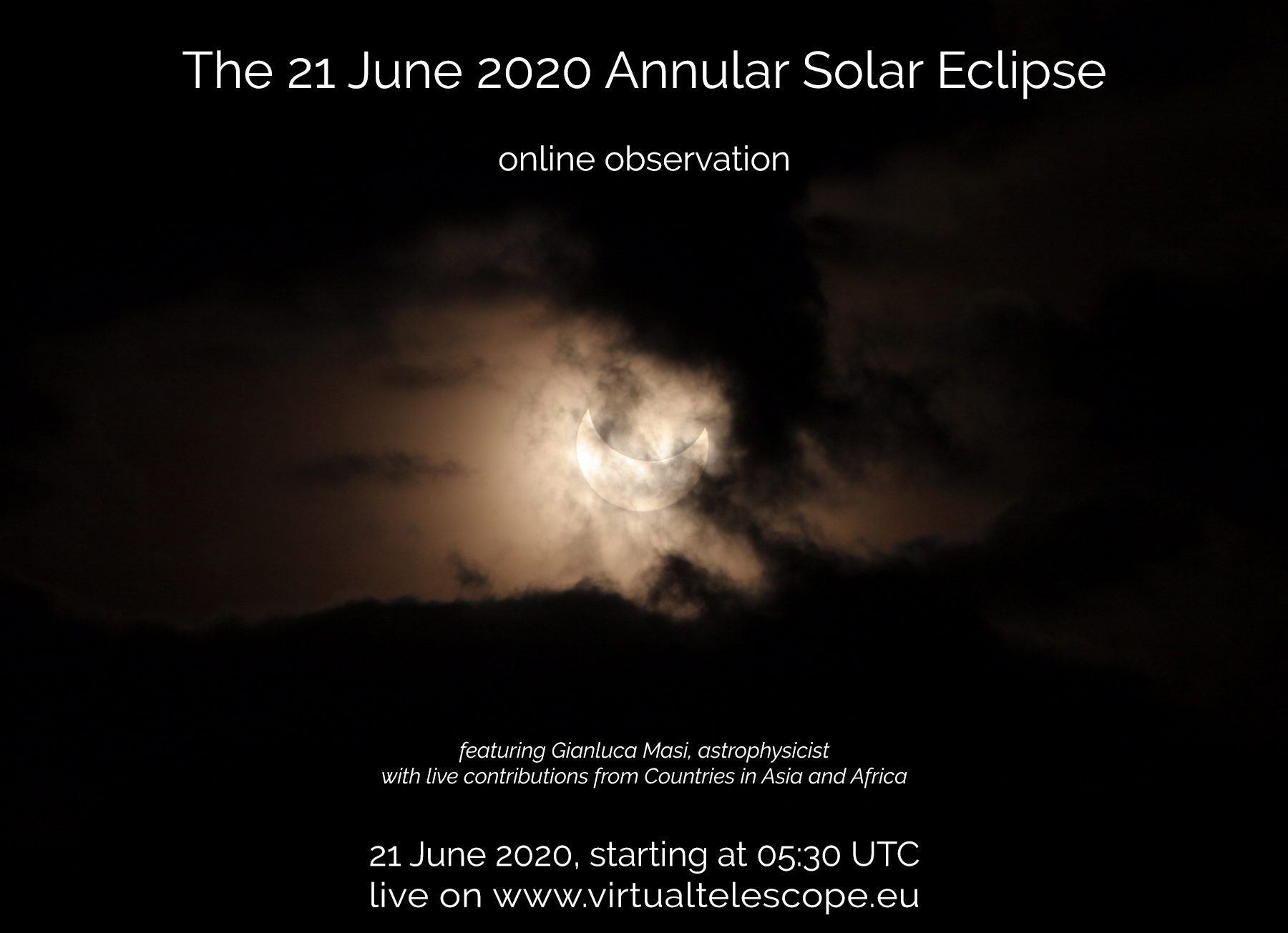 """""""21 June 2020 Solstice Annular Solar Eclipse"""" - poster of the event"""