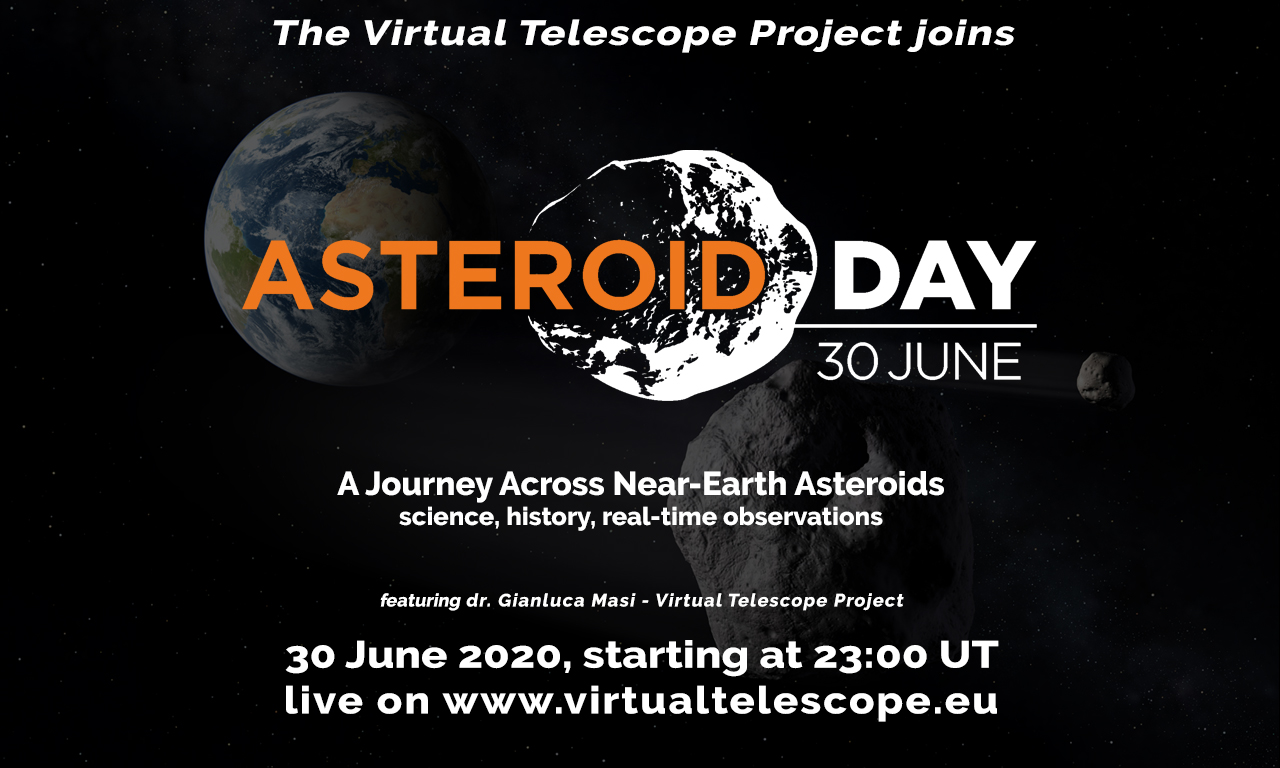 Asteroid Day 2020 at Virtual Telescope Project