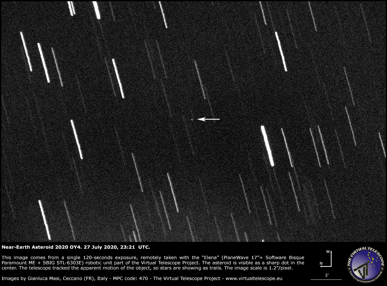 Near-Earth Asteroid 2020 Oy4 - 27 July 2020.