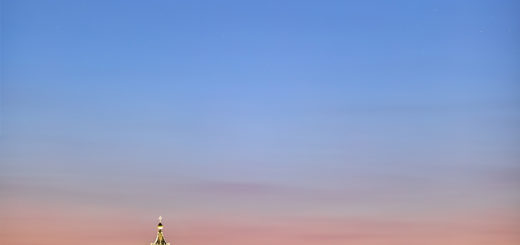 Comet C/2020 F3 NEOWISE shines above the St. Peter's Dome in Rome - 10 July 2020.