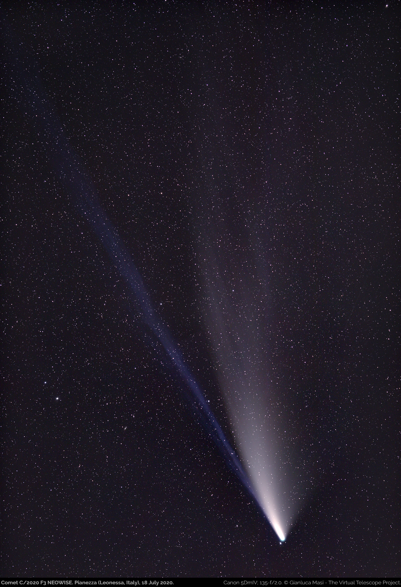 Comet C/2020 F3 NEOWISE, imaged on 18 July 2020.