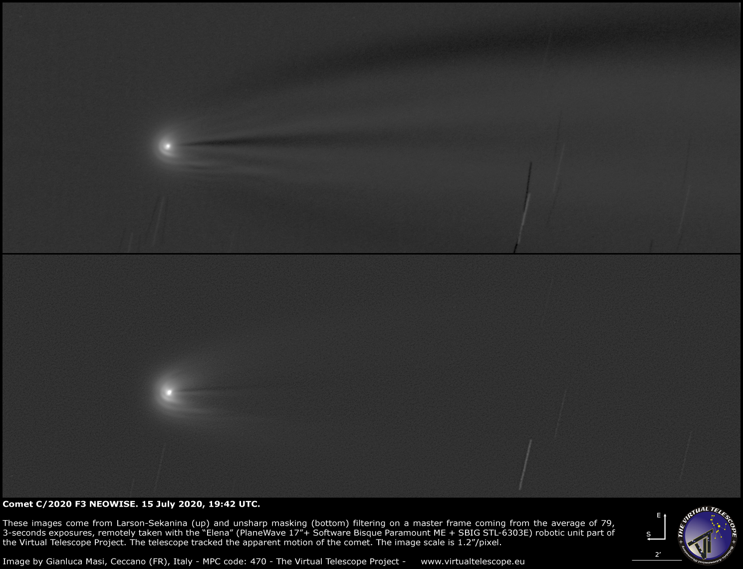 Comet C/2020 F3 NEOWISE: a close-up - 15 July 2020.