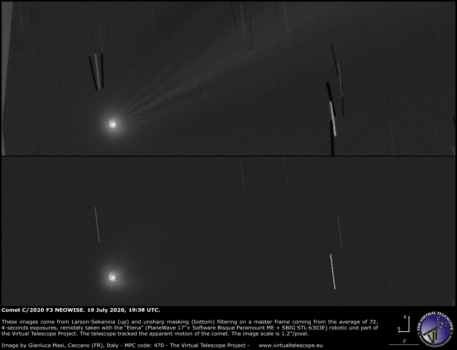 Comet C/2020 F3 NEOWISE: a close-up - 19 July 2020.