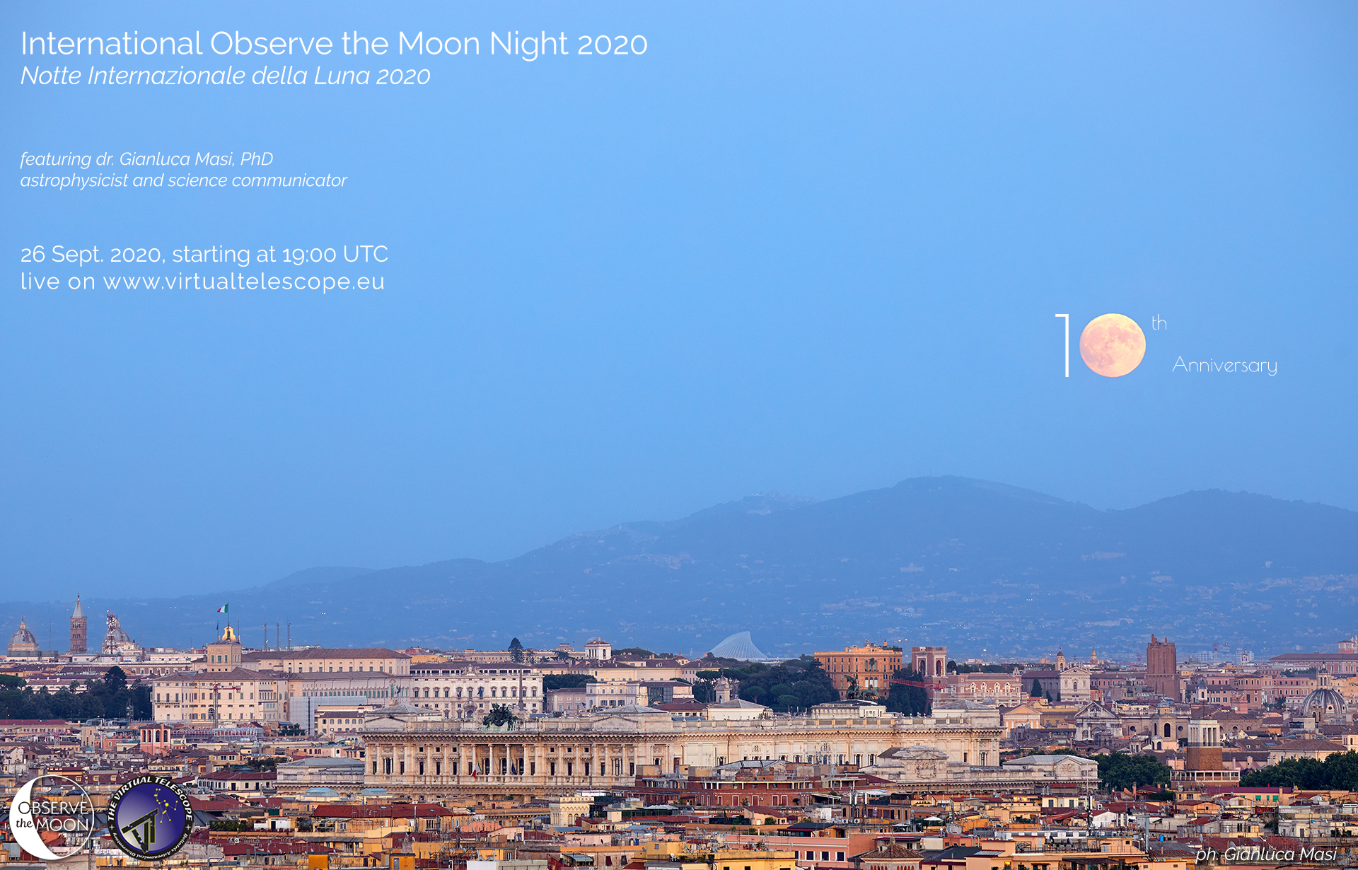 International Observe the Moon Night 2020: online observation - 26 Sept. 2020