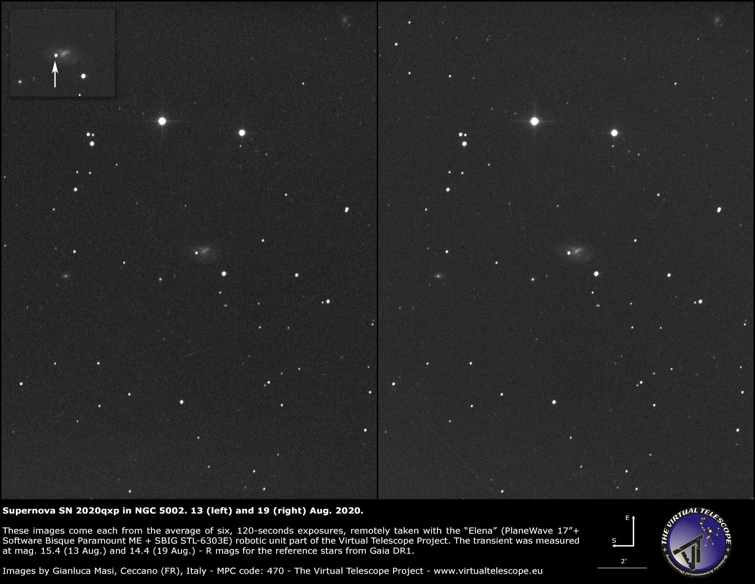 NGC 5002 and supernova SN 2020qxp - 19 Aug. 2020