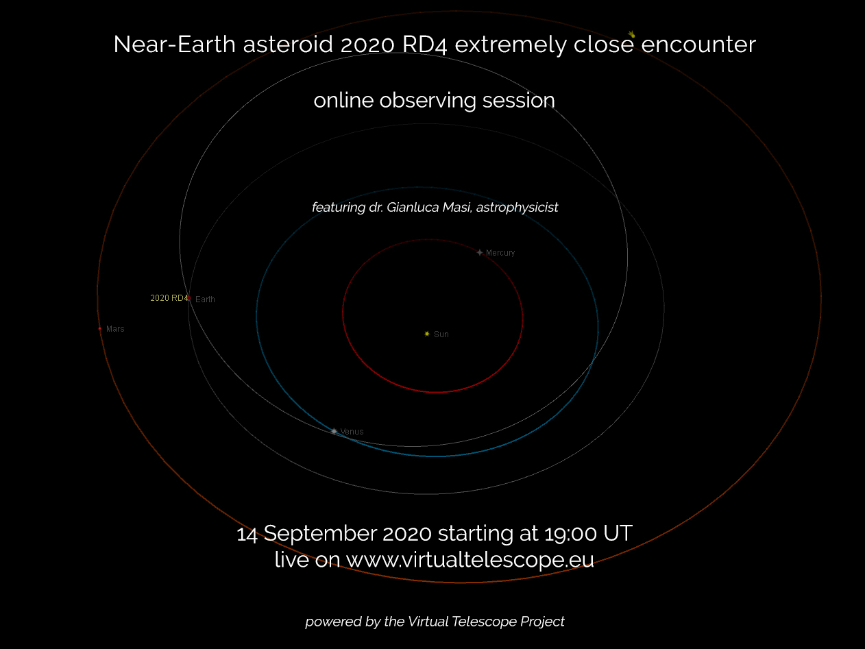 Near-Earth asteroid 2020 RD4: poster of the event.
