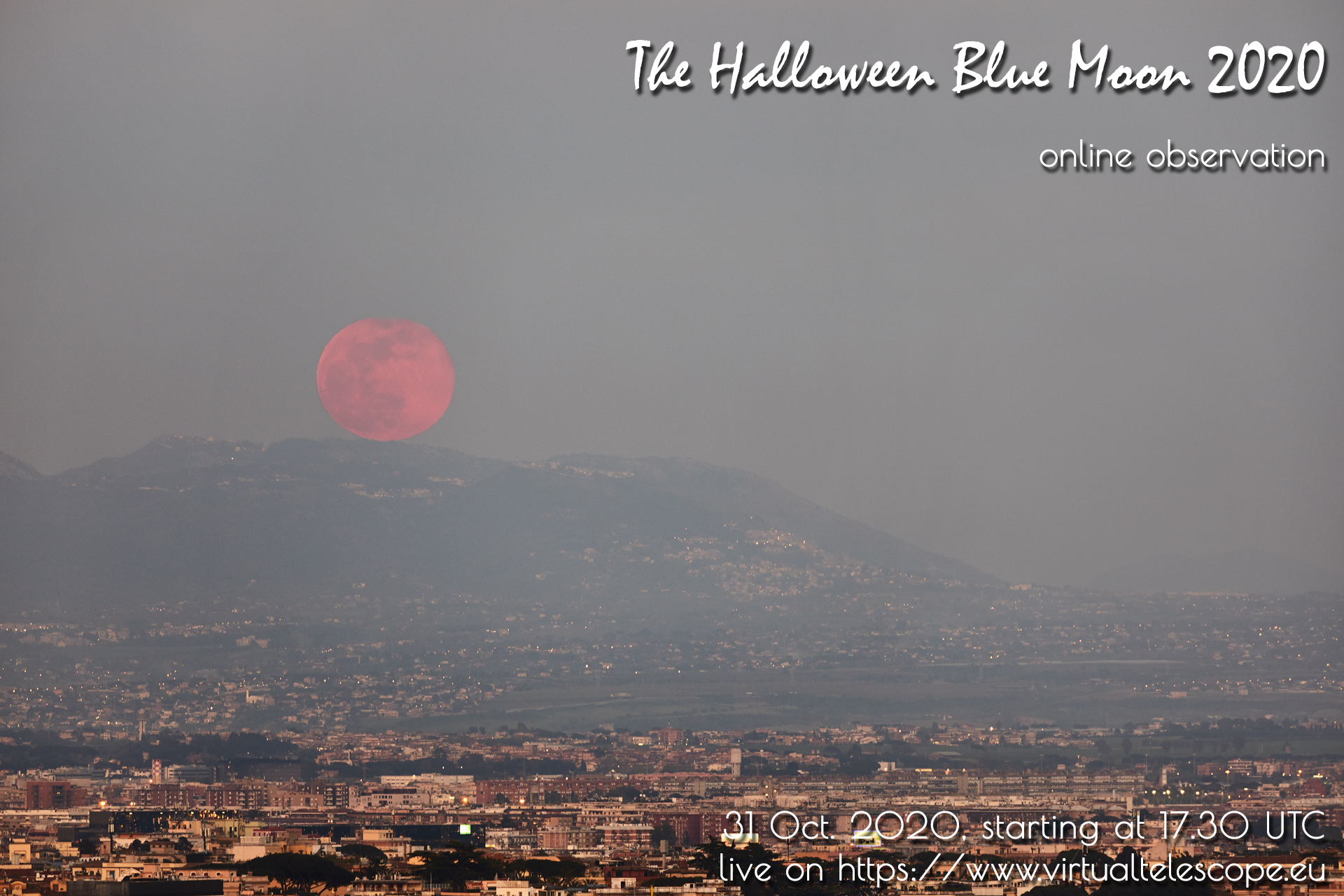 The Halloween Blue Moon 2020: poster of the event.
