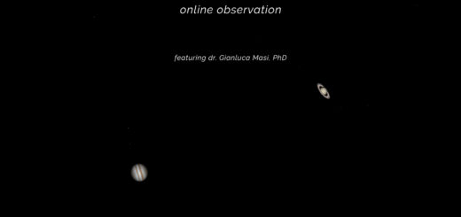 The 2020 Jupiter – Saturn great conjunction: online observation – 21 Dec. 2020.