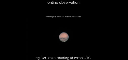 Mars Opposition 2020: poster of the event.
