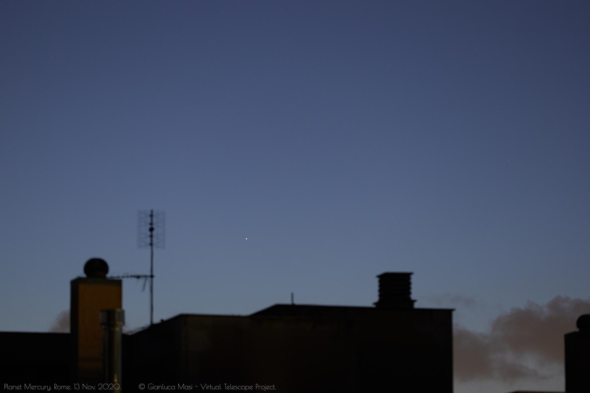 PlanePlanet Mercury at dawn. 13 Nov. 2020.t Mercury at dawn. 13 Nov. 2020.