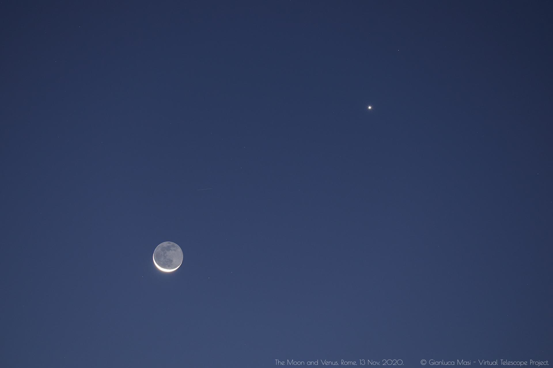 The Moon and Venus. 13 Nov. 2020.