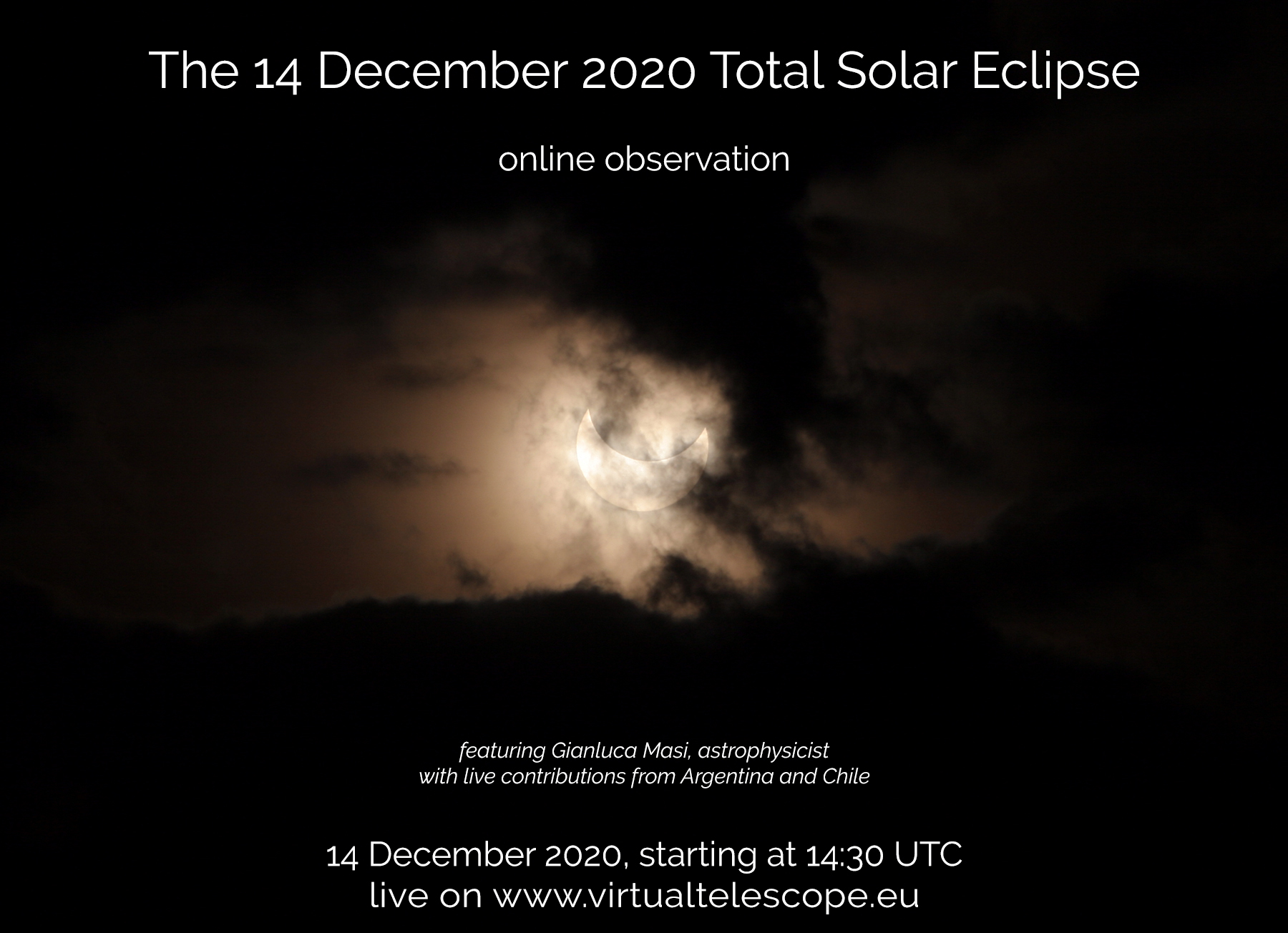 """""""14 December 2020 Total Solar Eclipse"""" - poster of the event"""