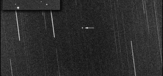 Near-Earth asteroid 2020 SO: tracked and trailed images - 01 Dec. 2020.