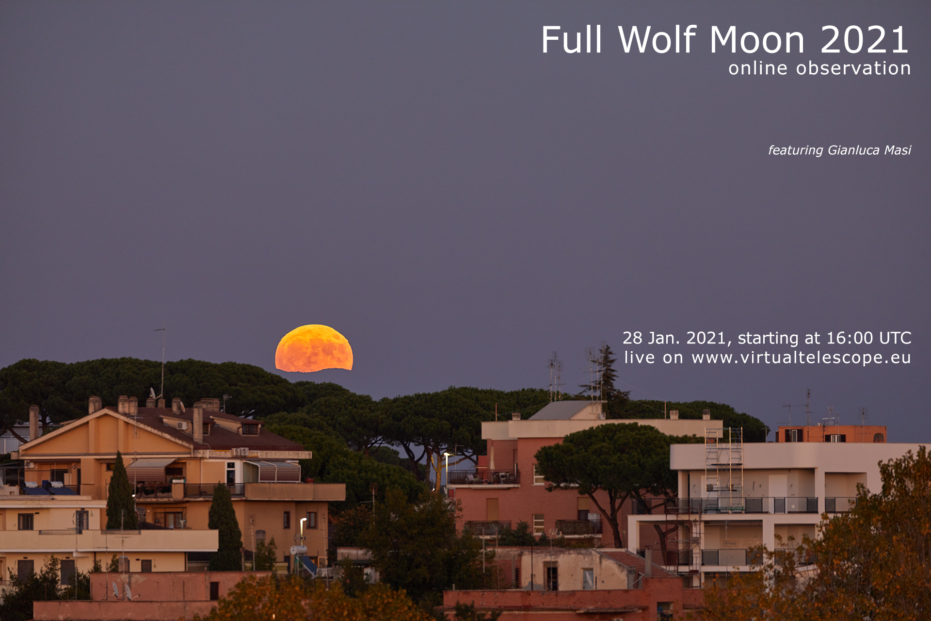 Full Wolf Moon 2021: poster of the event