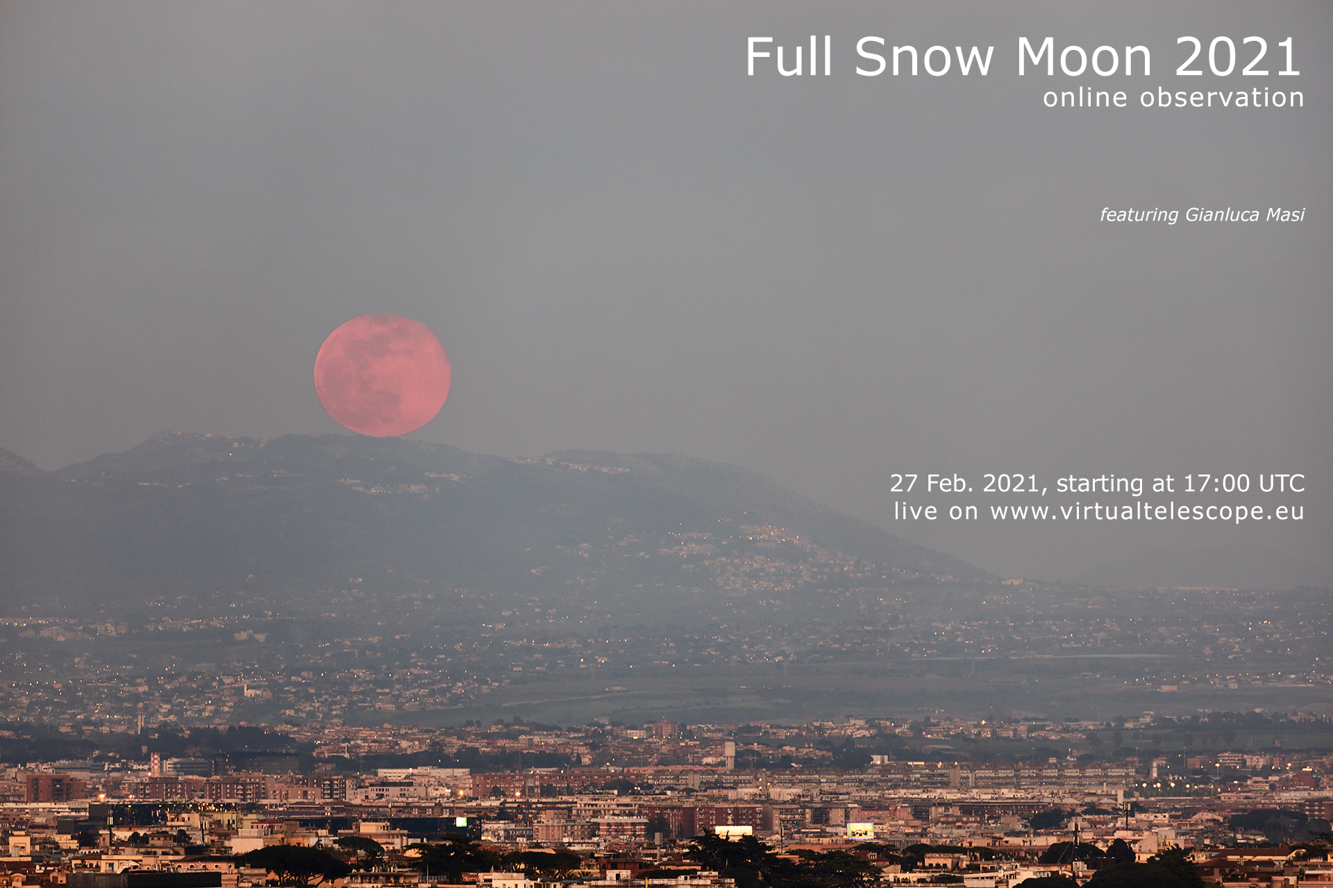 Full Snow Moon 2021: poster of the event