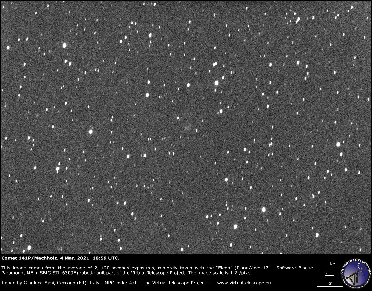 Comet 141P/Machholz: 04 Mar. 2021.