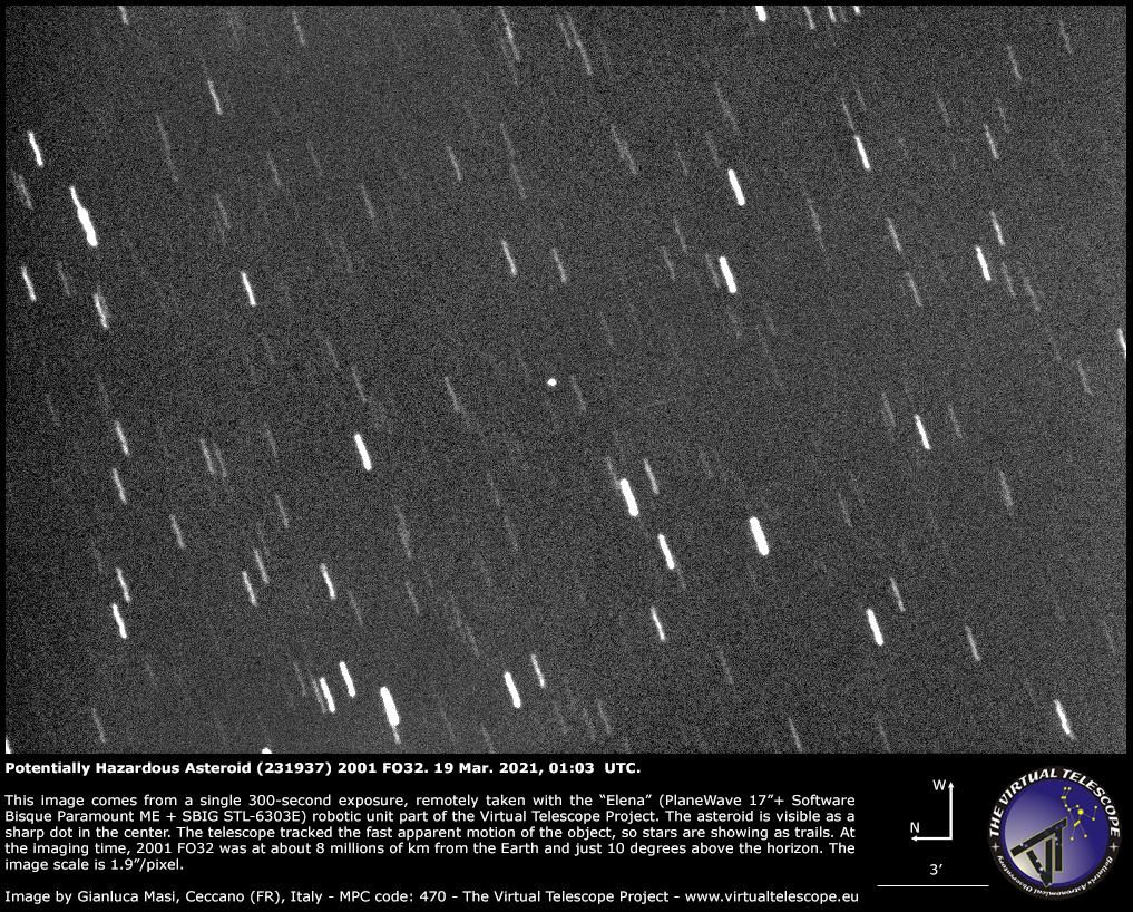 Potentially Hazardous Asteroid (231937) 2001 FO32: 19 Mar. 2021.