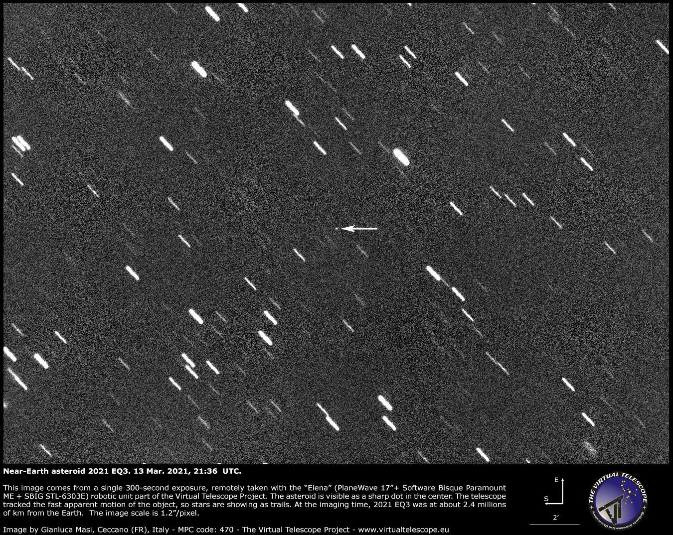 Near-Earth asteroid 2021 EQ3. 13 Mar. 2021.